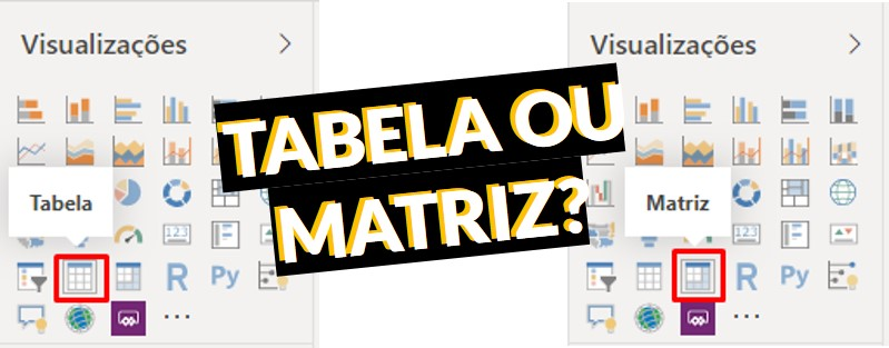 Matriz ou Tabela Power BI